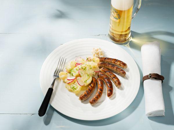 Nürnberger mit Kartoffelsalat