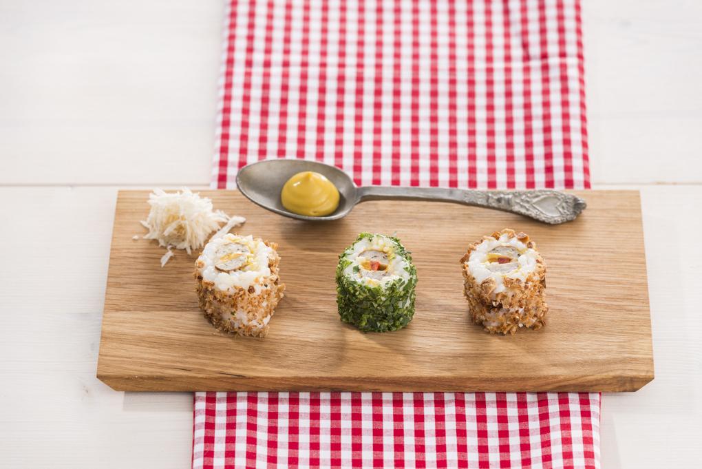 Bratwurst-Sushi