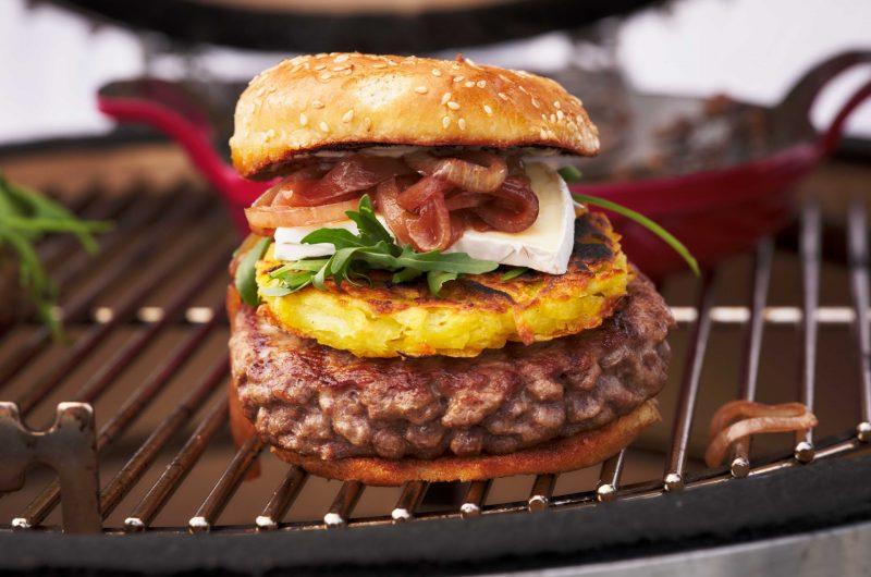 BAYERISCHES RINDFLEISCH G.G.A. Burger vom Bayerischen Rindfleisch mit Rösti
